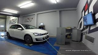 VW Golf 7 2.0 tdi 184cv DSG Reprogrammation Moteur @ 227cv Digiservices Paris 77 Dyno