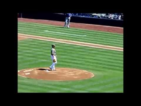 San Diego Padres LHP Alex Hinshaw pitching against Colorado Rockies 2012