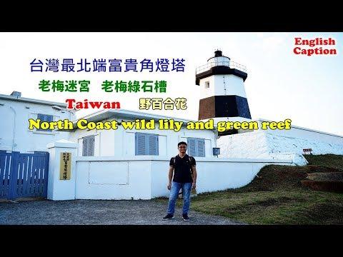 [台灣自由行景點攻略] 帶你搭公車到富貴角看野百合,還有老梅迷宮、綠石槽、燈塔,這樣玩就對了
