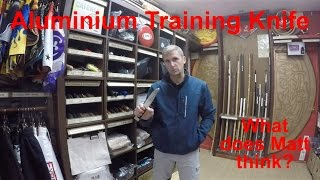 Aluminium Training Knife Review for Self Defence Martial Arts practice