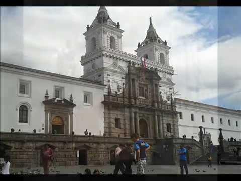 """Iglesia de San Francisco """"Leyenda de Cantuña"""" en Quito, Ecuador."""