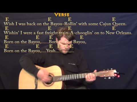 Born on the Bayou (CCR) Strum Guitar Cover Lesson with Lyrics/Chords
