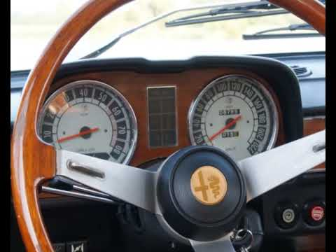 1972 alfa romeo berlina 2000 photo video with stereo for Interieur alfa spider 2000