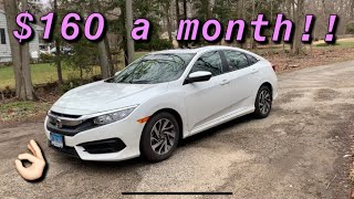 how much did I lease this civic for?