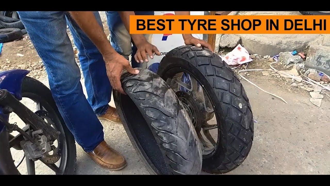 Best Tyre Shop In Delhi Dominar Getting New Shoes Dominar 400