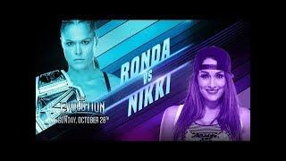 wwe 2k19 ronda rousy vs nikki bella for raw women`s champion the evolution