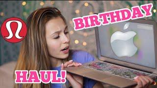 WHAT I GOT FOR MY BIRTHDAY! /(lululemon, PINK, apple,)