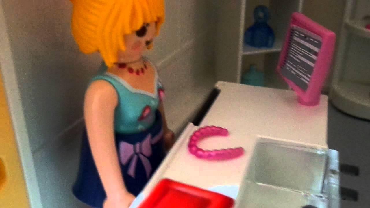 Le salon de coiffure playmobil - YouTube