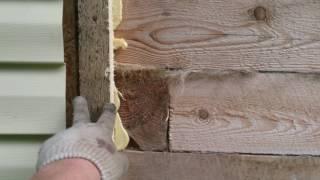 видео Утепление брусового дома снаружи и изнутри