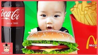 햄버거 커졌어요? 욕심 부리면 안되요! 뽀로로 짜장 hamburger pretend play Nursery Rhymes & Kids Song | 말이야와아이들 MariAndKids