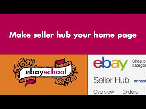 Make Seller Hub Your Home Page On Ebay 2020 Youtube