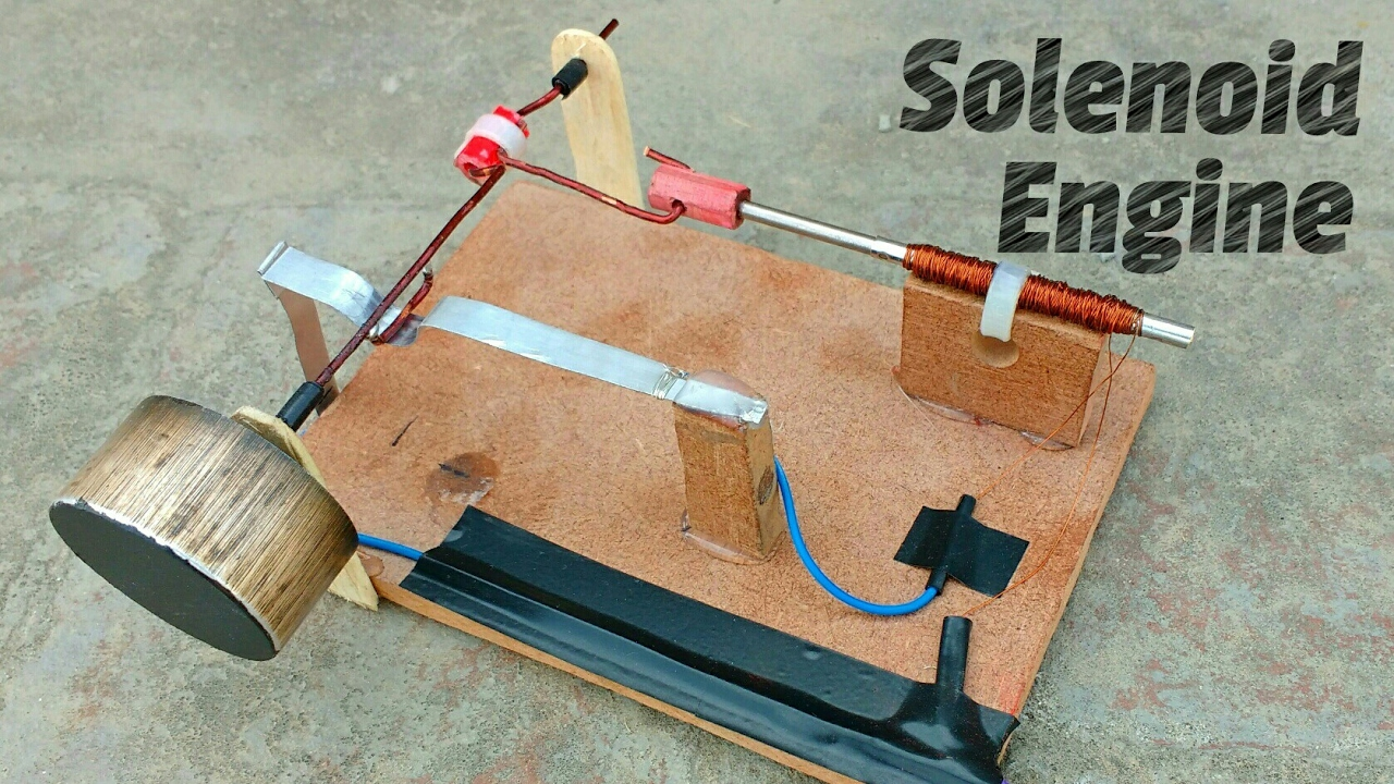 How To Make Solenoid Engine Electric Motor
