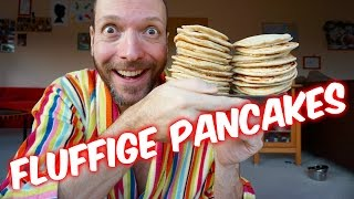 Fluffige Pancakes | Pancake Rezept | Vegan - Einfach - Schnell - Lecker [VEGANES REZEPT]