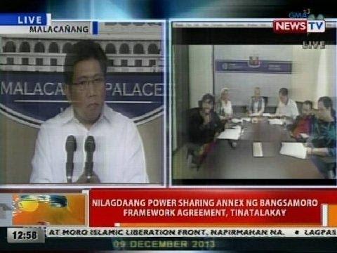 BT: Nilagdaang power sharing annex ng Bangsamoro Framework Agreement, tinatalakay