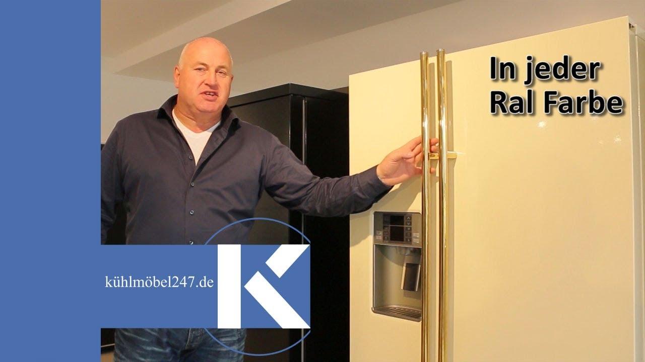 Amerikanischer Kühlschrank Transportieren : Ge amerikanischer side by side kühlschrank in ral farben youtube