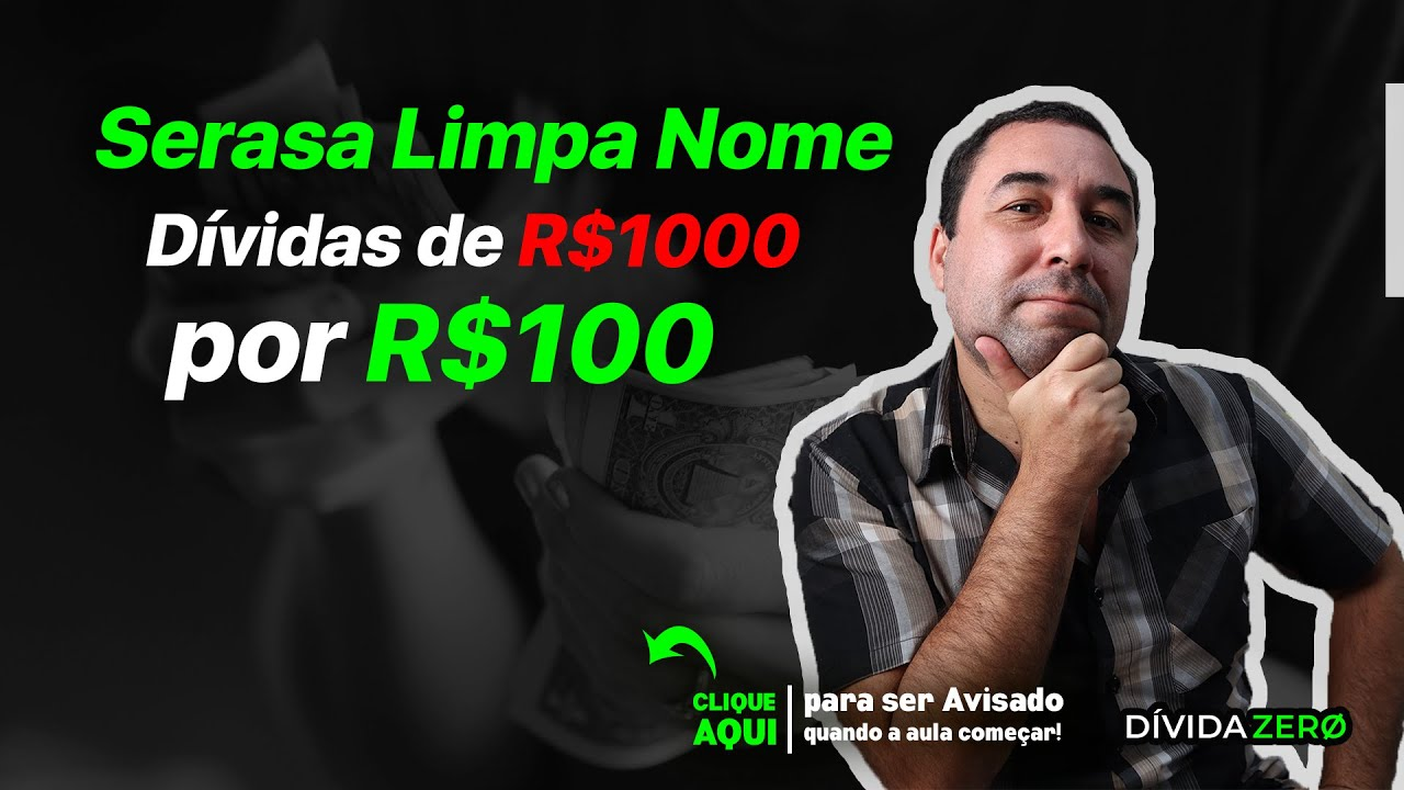 No Site do  Serasa SPC Dívidas de R$1000 por R$100| Como limpar Nome Sujo Feirão 2020