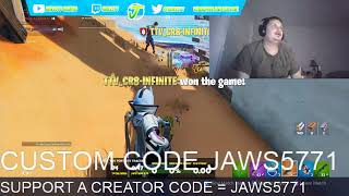 FORTNITE CUSTOMS FOR GIFTCARDS USE CODE JAWS5771 IN THE ITEM SHOP