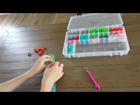 How to make a rainbow loom fidget spinner part 1