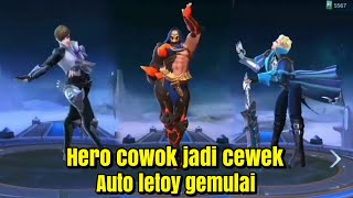 when male heroes become female heroes~Hero cowok jadi cewek~alu & guison jd kocak😅~mobile legends
