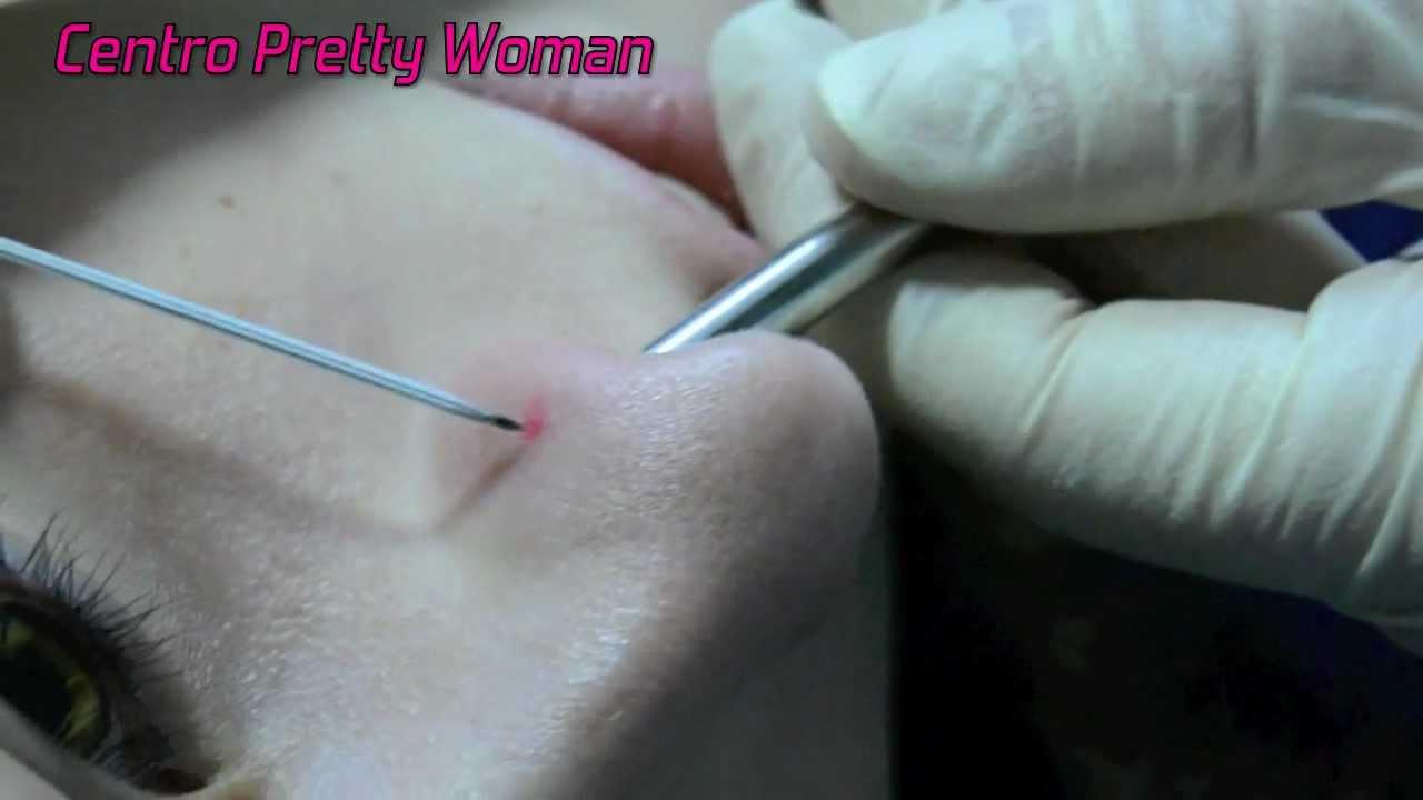 c41739e092b8 Piercing nariz (Nostril Nose Piercing) - YouTube
