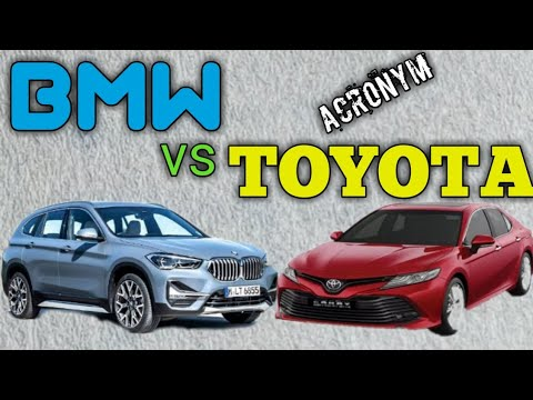 Toyota Vs Bmw Funny Acronym Youtube