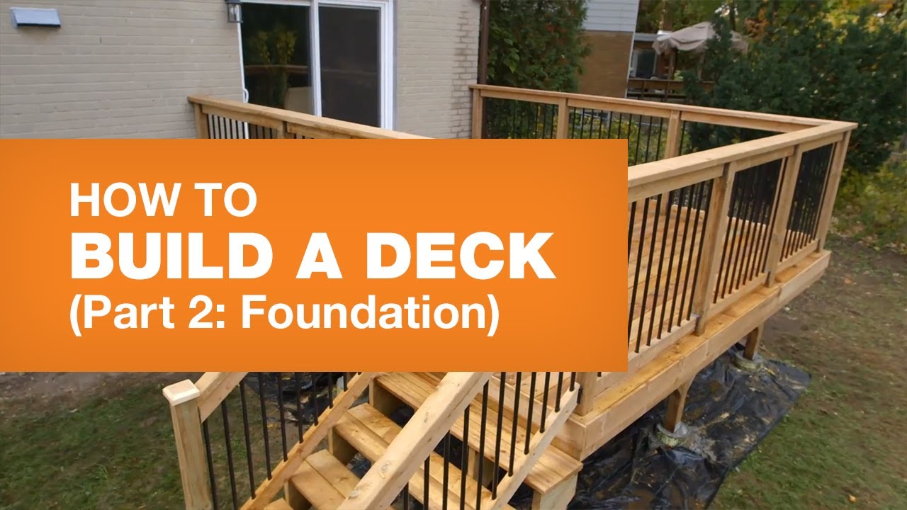 Build A Deck Step By Video Guide The Home Depot Canada