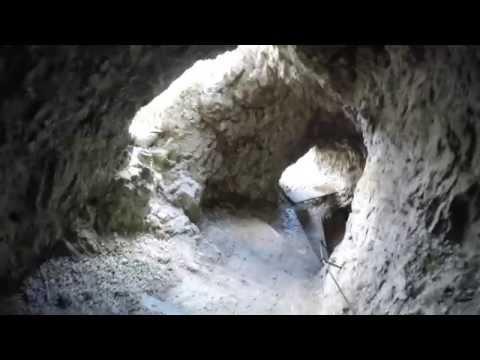 Galleria Felstunnel Tunnel Lagazuoi - Rifugio Lagazuoi Passo Falzarego Full movie-Gopro Hero 4 4K