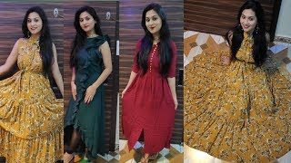Myntra Maxi Dresses haul under 500-600 Rs/Trendy Dresses/divya beauty world/2019/(Part-2)