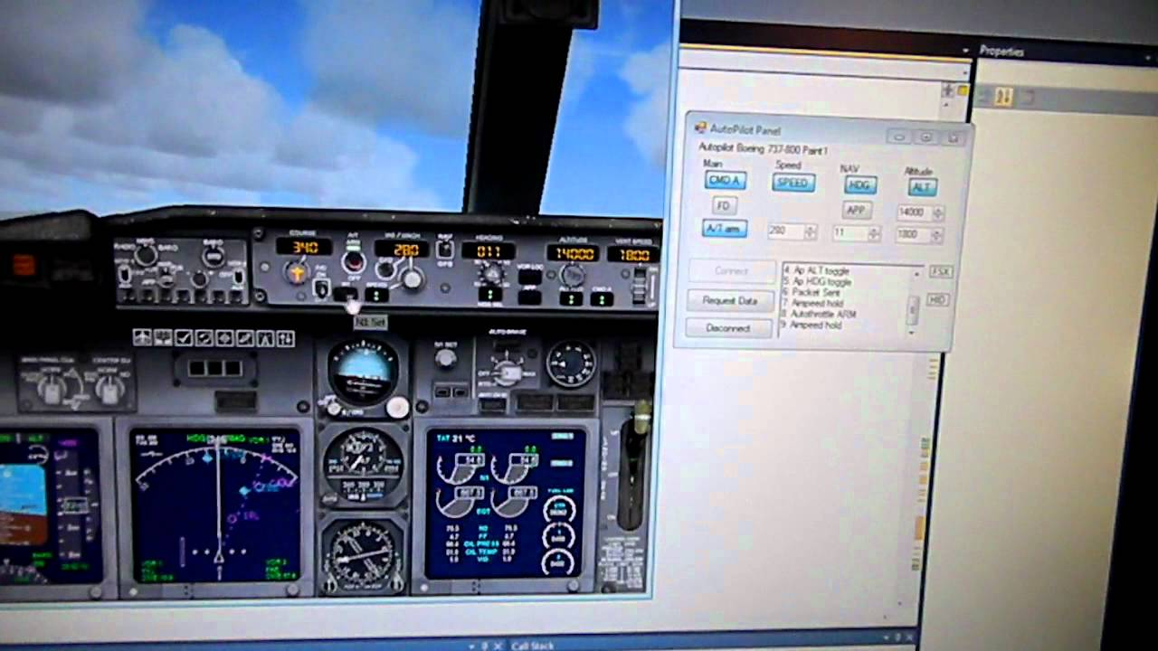 Flight Simulator X Autopilot Panel Usb HID with PIC18F2455 First Test