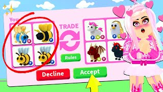 I ONLY Traded  BEES In Adopt Me For 24 Hours... Roblox Adopt Me Trading