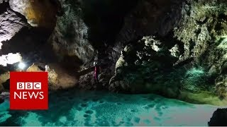 Giant cave hall found down sinkhole - BBC News