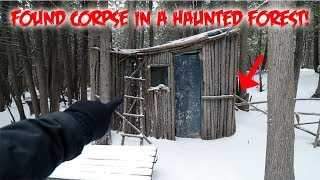 I FOUND SOMETHING TERRIFYING IN a HAUNTED FOREST NEAR ABANDONED CABIN!