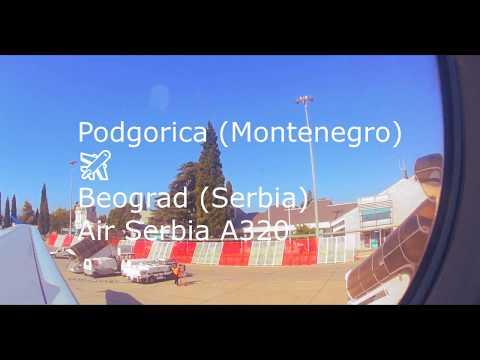 Podgorica to Beograd Air Serbia Full HD Flight