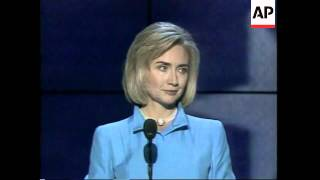 USA: CHICAGO: 1996 DEMOCRATIC PARTY CONVENTION: HILLARY CLINTON