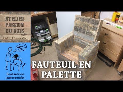 REALISER UN SALON DE JARDIN EN PALETTE : UN FAUTEUIL - YouTube