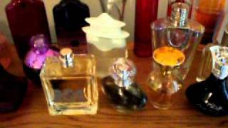 a small perfume collection