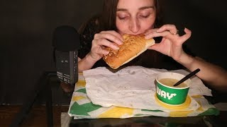 Subway Sandwich & Soup/Eating Sounds/Whispering ^_^ NomNomNom ASMR