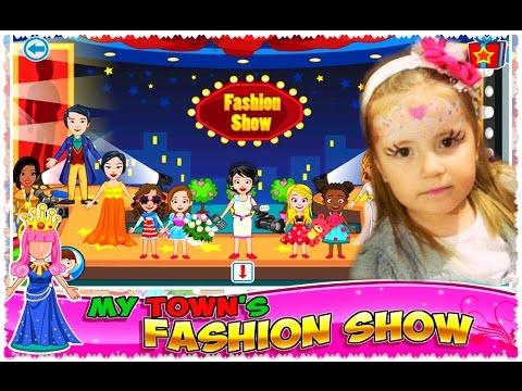 My Town : Fashion Show ПОКАЗ МОД  🎀 Обучающие Ролевые игры на планшете Обзор Android Gameplay