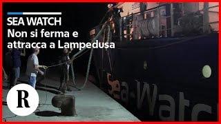 La Sea-Watch non si ferma e attracca a Lampedusa. In difficoltà motovedetta Gdf