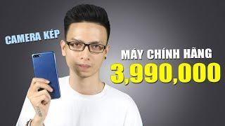 Smartphone dưới 4 triệu chính hãng đã có camera kép và màn hình 18:9