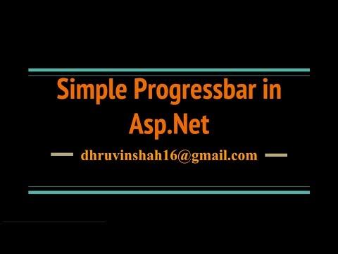 How to create a Progress bar in Asp Net C#?