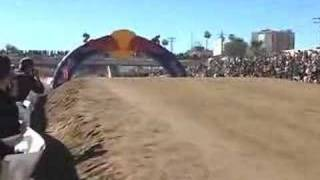Robbie Gordon dirt jump at Baja 1000