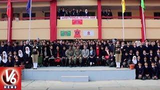 Former Indian Captain MS Dhoni Visit Army Public School In Srinagar | Jammu And Kashmir | V6 News