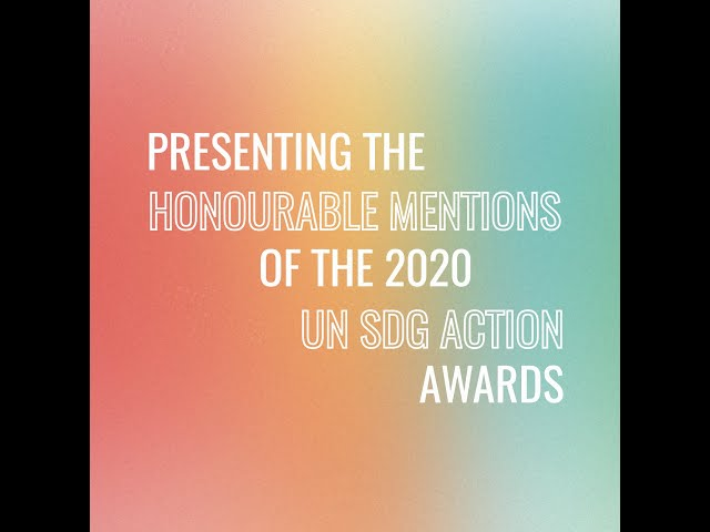 Meet the Honourable Mentions of the UN SDG Action Awards!