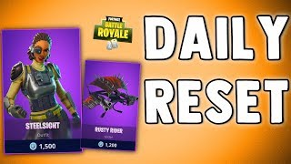 FORTNITE DAILY SKIN RESET - STEELSIGHT SKIN!! Fortnite Battle Royale