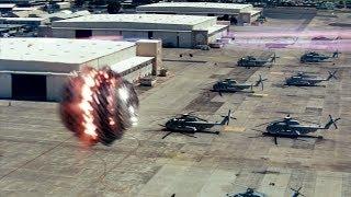 """Атака инопланетян на военную базу - """"Морской бой"""" отрывок из фильма"""