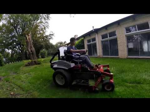 Mowing an overgrown lawn 2