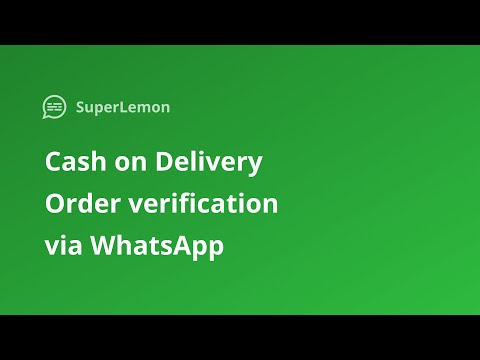 Cash On Delivery Order Verification Messages Via WhatsApp For Shopify Stores
