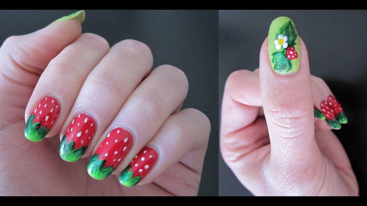 sweet strawberry nail art fruit berry