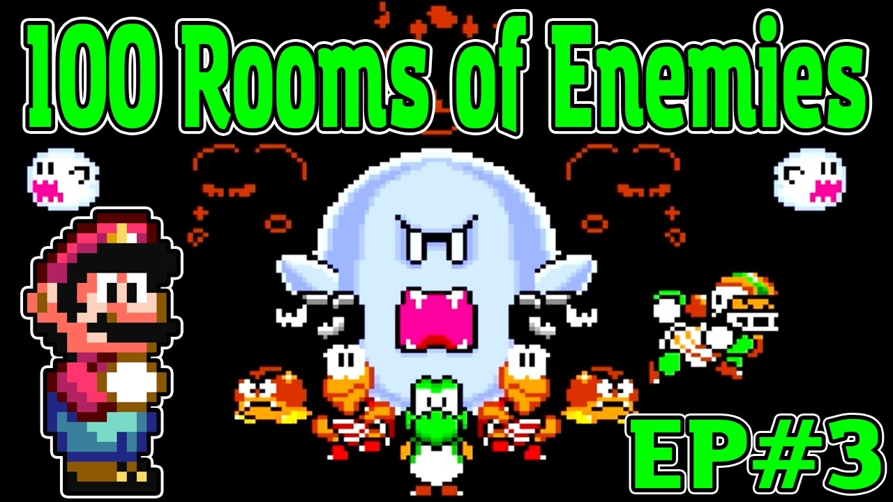 100 Rooms Of Enemies Ep 3 Mario World Rom Hack Youtube